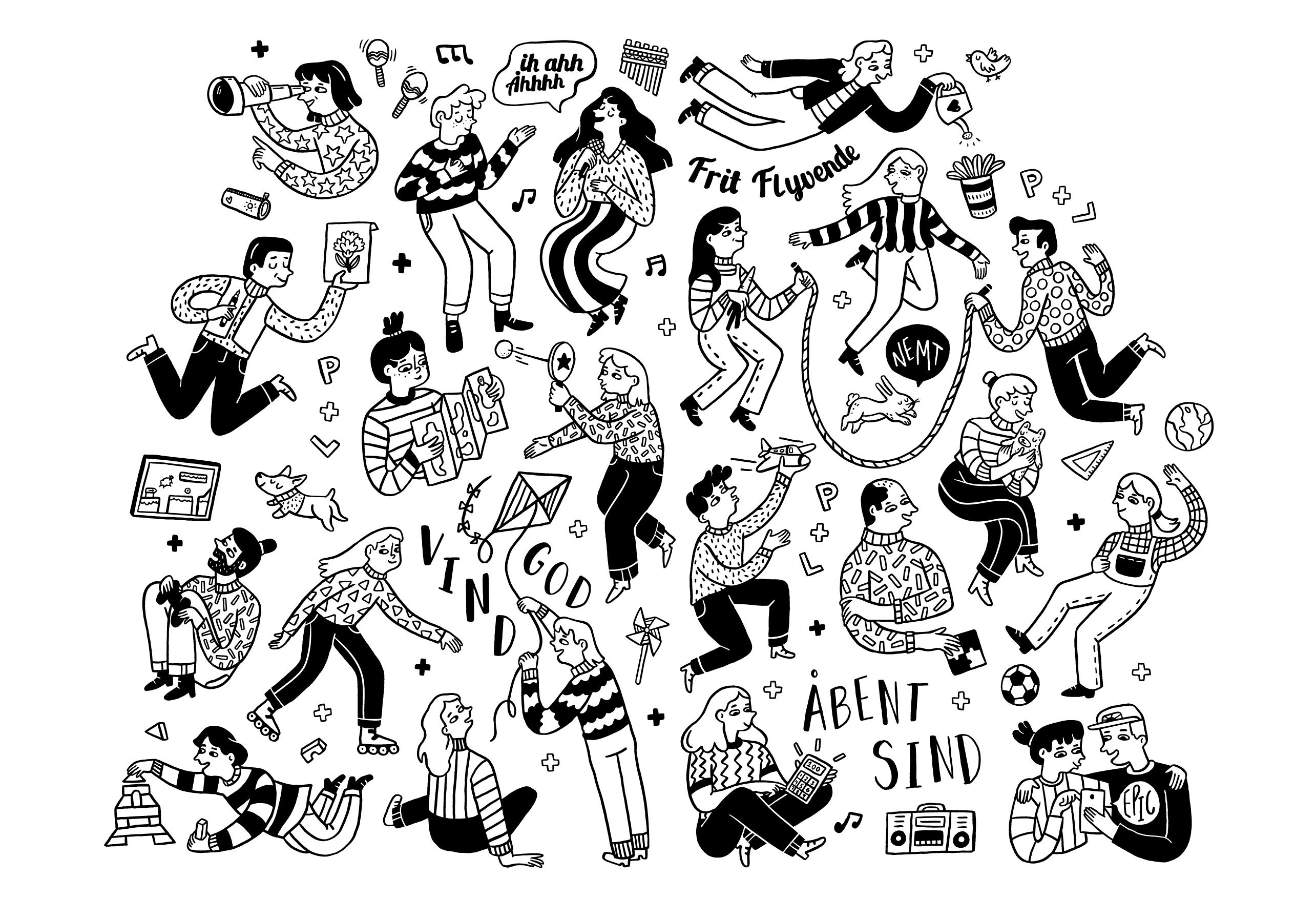 Viser væg illustration til UCN